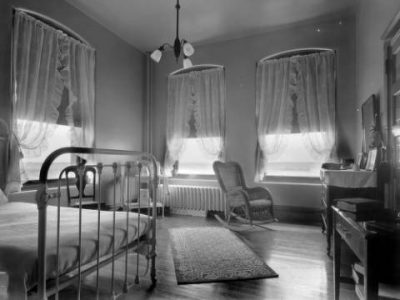 Patient's room at Agnes Memorial Sanatorium